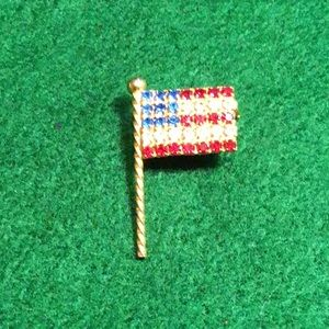 Jewelry - Stunning sparkling American Flap Lapel Pin